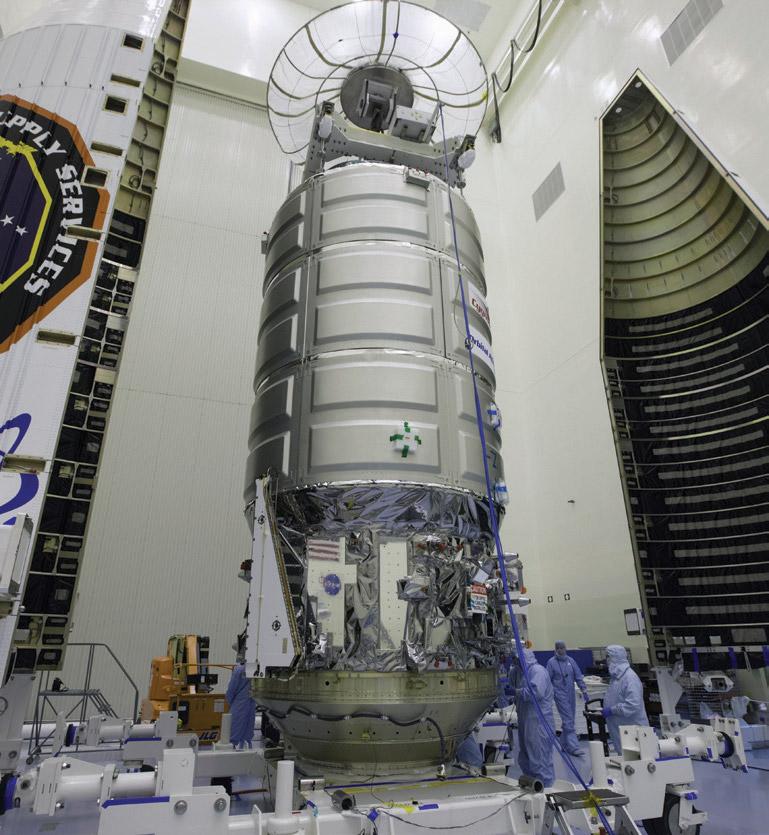 orbital atk prepares cygnus for iss resupply
