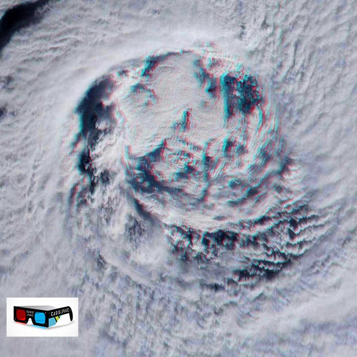 hurricane gita eye view