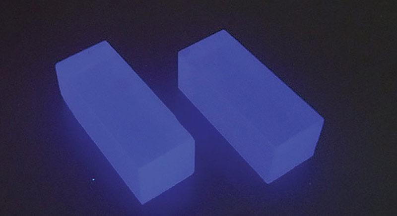 clyc scintillator crystals uv light