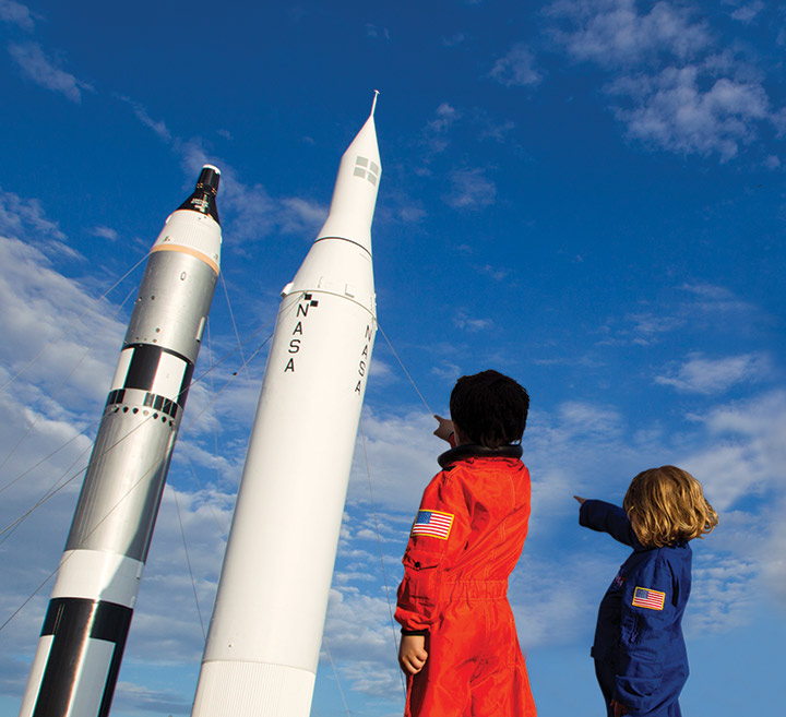 kids orange blueflightsuits spacex launch